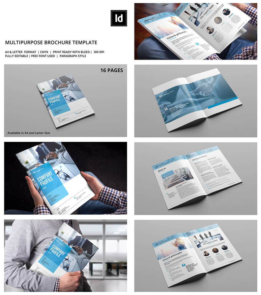 30 Best Indesign Brochure Templates – Creative Business For Letter Size Brochure Template