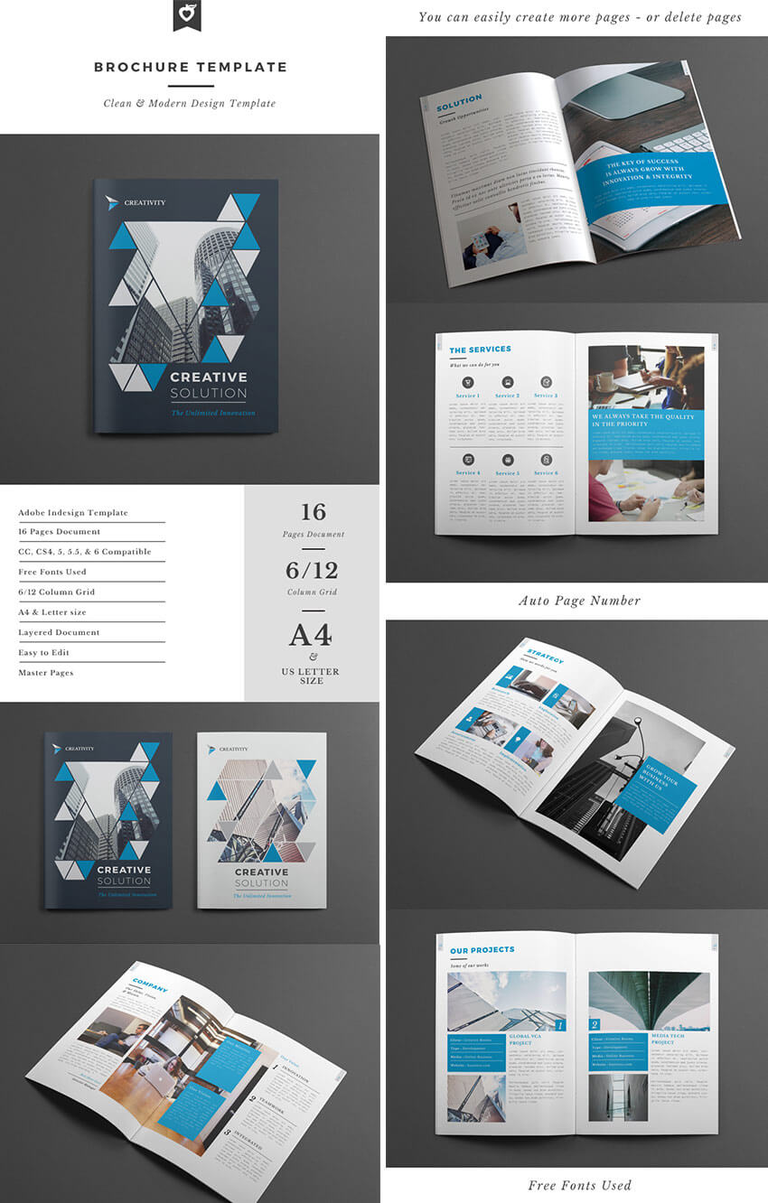 30 Best Indesign Brochure Templates – Creative Business Throughout 12 Page Brochure Template