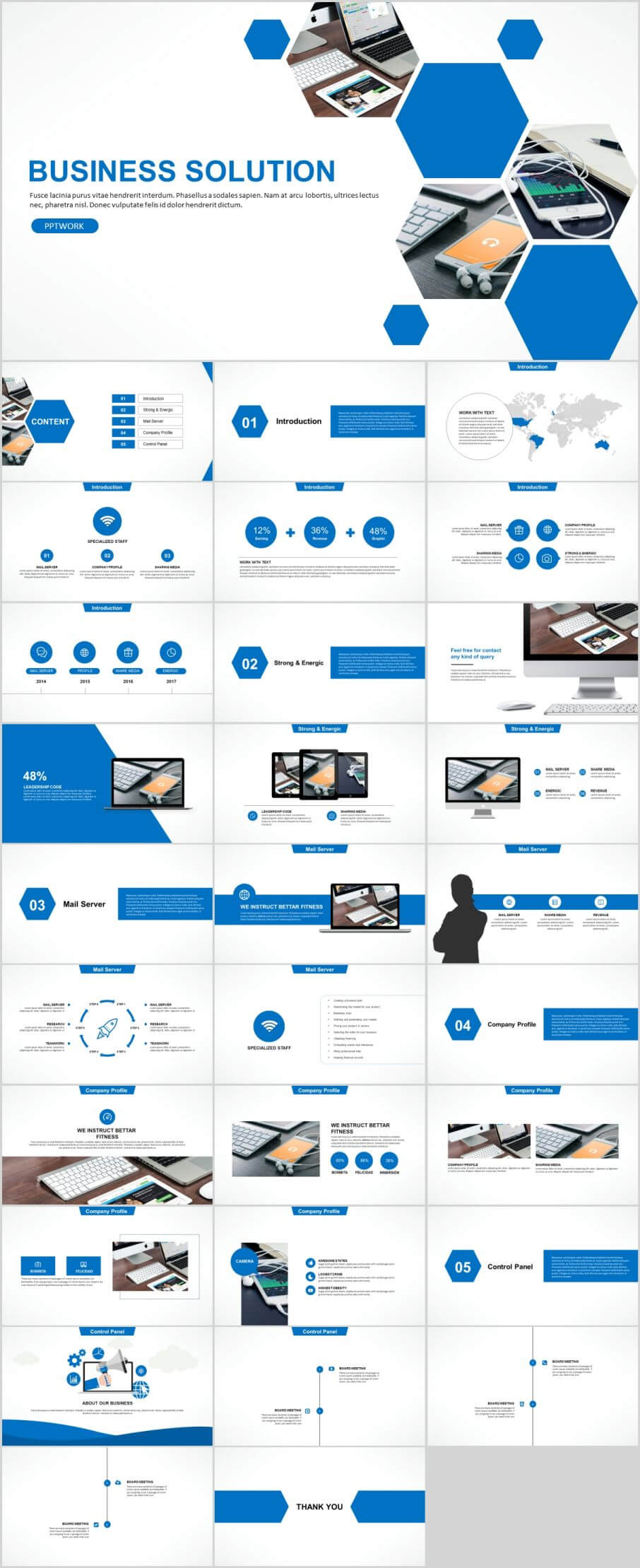 30+ Blue Business Solution Powerpoint Templates Intended For Powerpoint Template Resolution