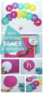 30 Creative Diy Birthday Banner Ideas – Page 16 – Foliver Blog for Diy Birthday Banner Template