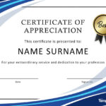 30 Free Certificate Of Appreciation Templates And Letters For Template For Certificate Of Appreciation In Microsoft Word