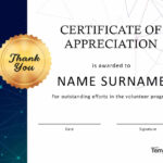 30 Free Certificate Of Appreciation Templates And Letters In Volunteer Certificate Template