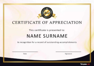 30 Free Certificate Of Appreciation Templates And Letters intended for Running Certificates Templates Free