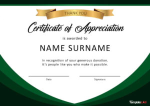 30 Free Certificate Of Appreciation Templates And Letters regarding Certificate Of Appreciation Template Free Printable