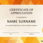 30 Free Certificate Of Appreciation Templates And Letters Regarding Volunteer Certificate Template