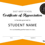 30 Free Certificate Of Appreciation Templates And Letters With Regard To Free Student Certificate Templates