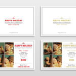 30 Holiday Card Templates For Photographers To Use This Year Inside Free Photoshop Christmas Card Templates For Photographers