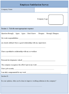 30 Images Of Dental Staff Survey Template Free | Unemeuf regarding Employee Satisfaction Survey Template Word