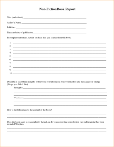 30 Images Of Non Fiction Book Report Template 4Th Grade regarding Nonfiction Book Report Template