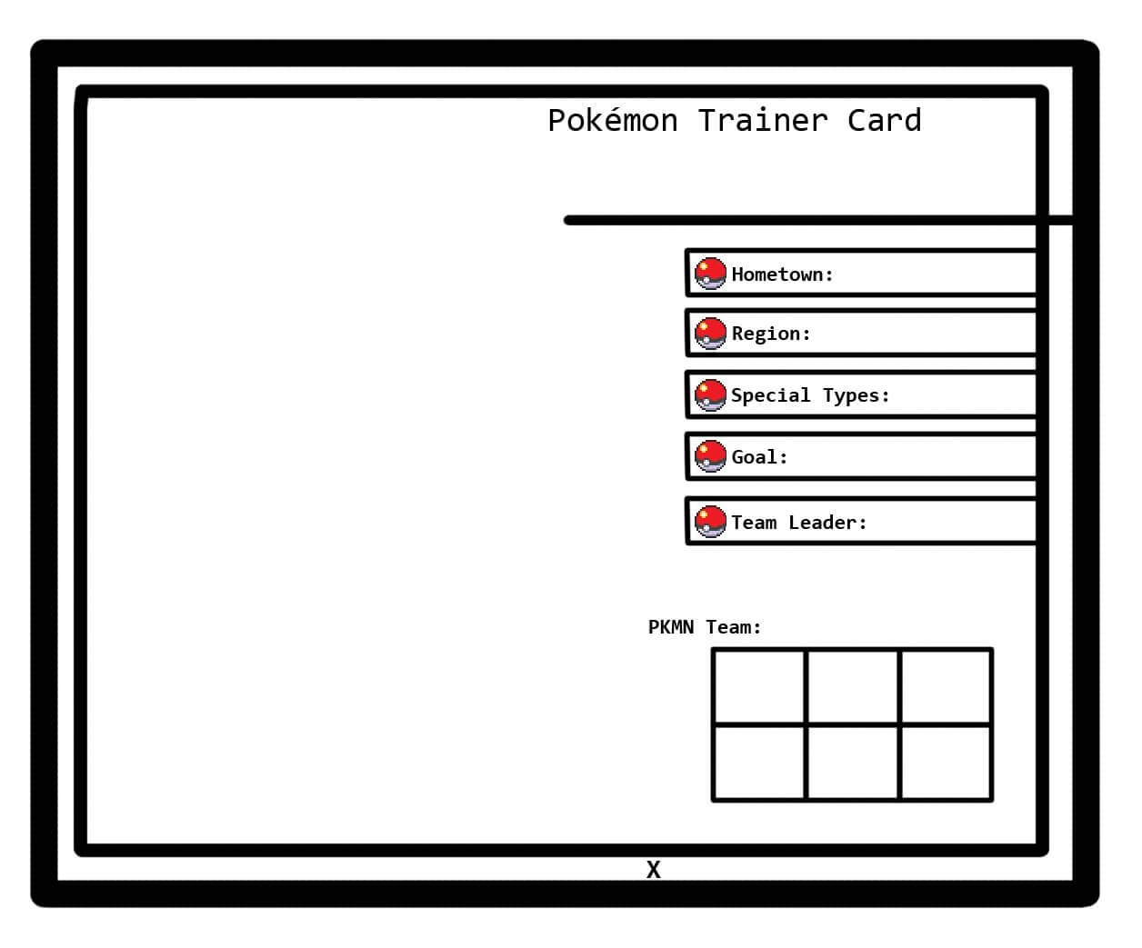 30 Images Of Trainer Card Template | Nategray Pertaining To Pokemon Trainer Card Template