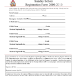 30 Images Of Youth After School Form Template   Bfegy Intended For School Registration Form Template Word