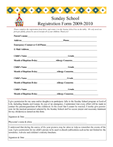 30 Images Of Youth After School Form Template | Bfegy intended for School Registration Form Template Word