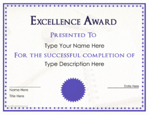 30 Life Saving Award Template | Pryncepality Inside Life Saving Award Certificate Template