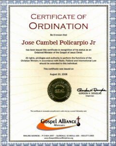 30 Luxury Ordained Minister Certificate Template Pictures in Ordination Certificate Templates