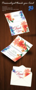 30+ Personalized Thank You Cards – Free Printable Psd, Eps regarding Card Folding Templates Free