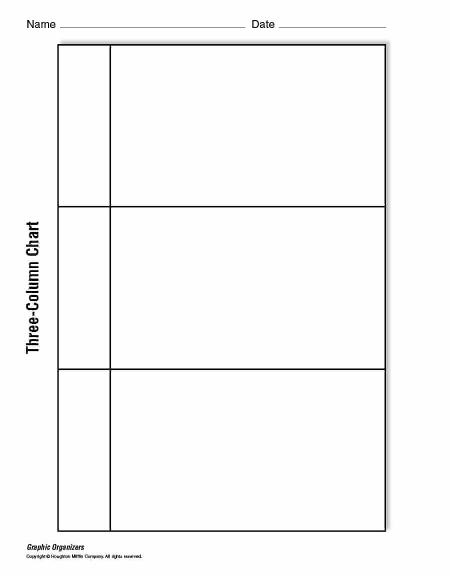 30 Printable T Chart Templates & Examples – Template Archive Regarding 3 Column Word Template