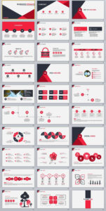 30+ Red Infographics Business Powerpoint Template | 2018 with How To Create A Template In Powerpoint