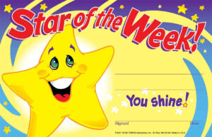 30 Star Of The Week Certificates Recognition Teacher Award Pad with Star Of The Week Certificate Template