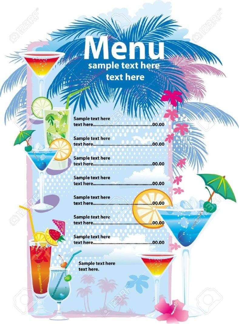 32+ Bar Menu Designs | Free & Premium Templates Intended For Cocktail Menu Template Word Free