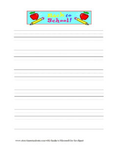 32 Printable Lined Paper Templates ᐅ Template Lab for Notebook Paper Template For Word 2010
