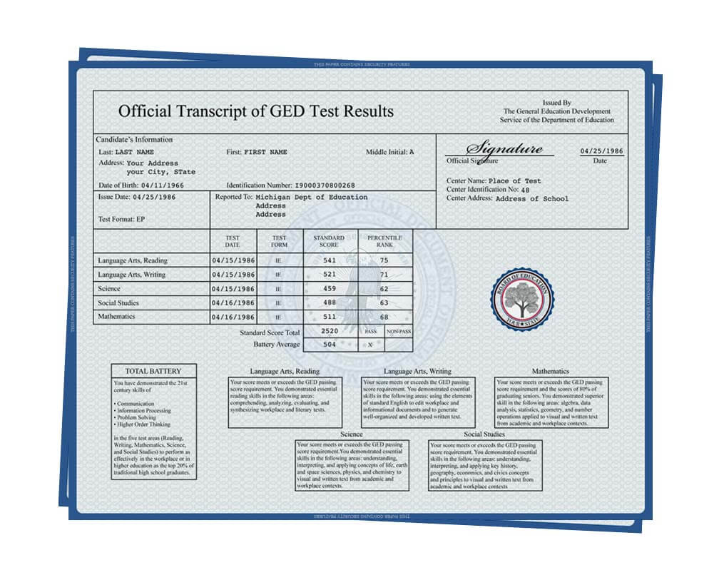 33+ Fake Transcripts - College Template Collection Free Pertaining To Ged Certificate Template Download