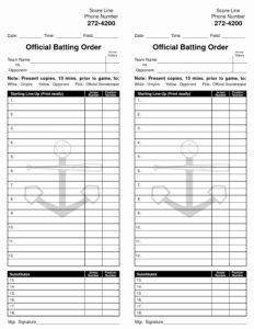 34 Baseball Lineup Card Template Excel | Culturatti pertaining to Softball Lineup Card Template