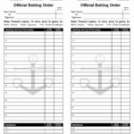 34 Baseball Lineup Card Template Excel | Culturatti With Regard To Dugout Lineup Card Template