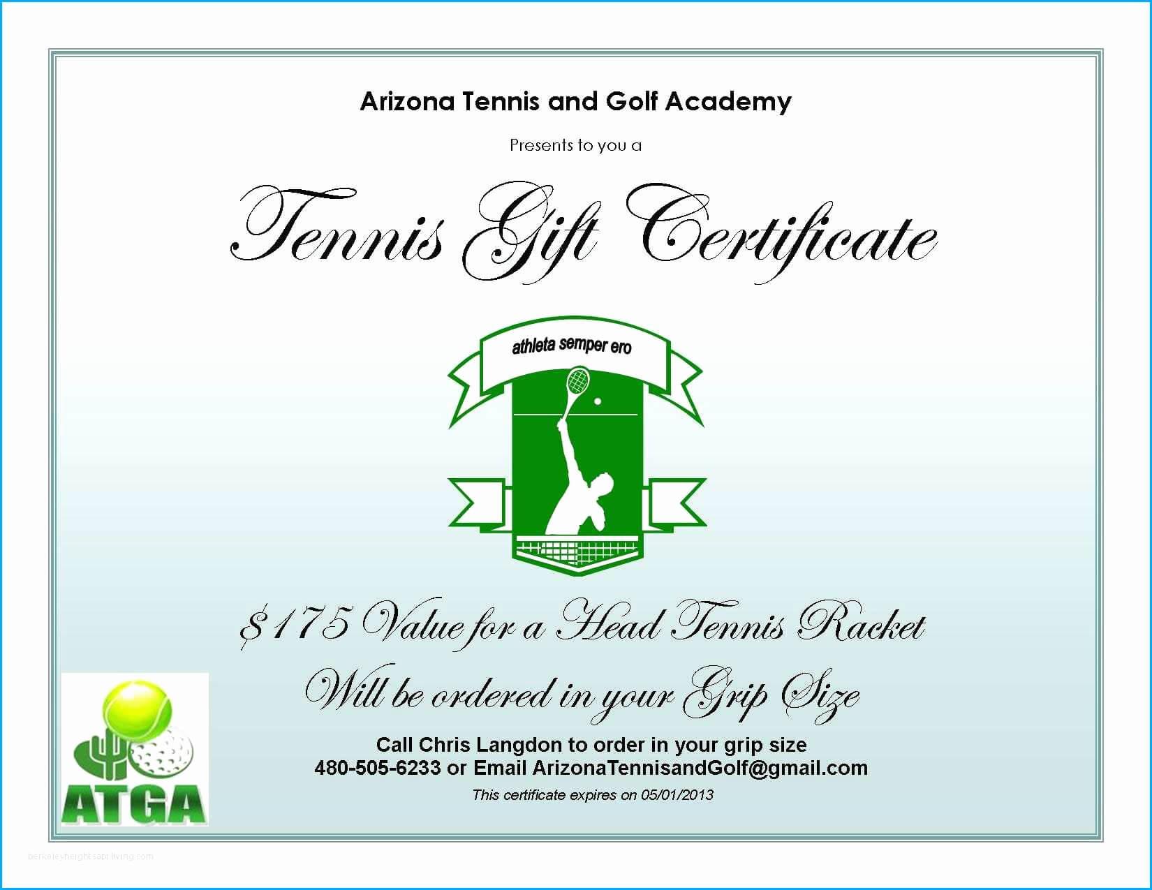 35 Best Of Golf Gift Certificate Template | Alaskafreepress Throughout Tennis Gift Certificate Template