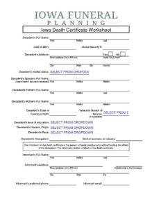 37 Blank Death Certificate Templates [100% Free] ᐅ Template Lab for Fake Death Certificate Template