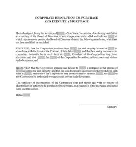 37 Printable Corporate Resolution Forms ᐅ Template Lab Regarding Corporate Secretary Certificate Template