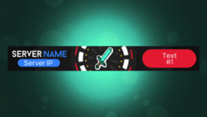 3D Animated .gif Minecraft Server Banner intended for Minecraft Server Banner Template