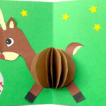 3D Christmas Card Diy – Easy Rudolph Pop Up Card – Templates – Paper Crafts Pertaining To Diy Christmas Card Templates