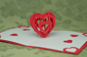 3D Heart Pop Up Card Template for Twisting Hearts Pop Up Card Template