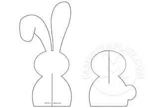 3D Paper Easter Bunny Template | Easter Template with regard to Easter Chick Card Template