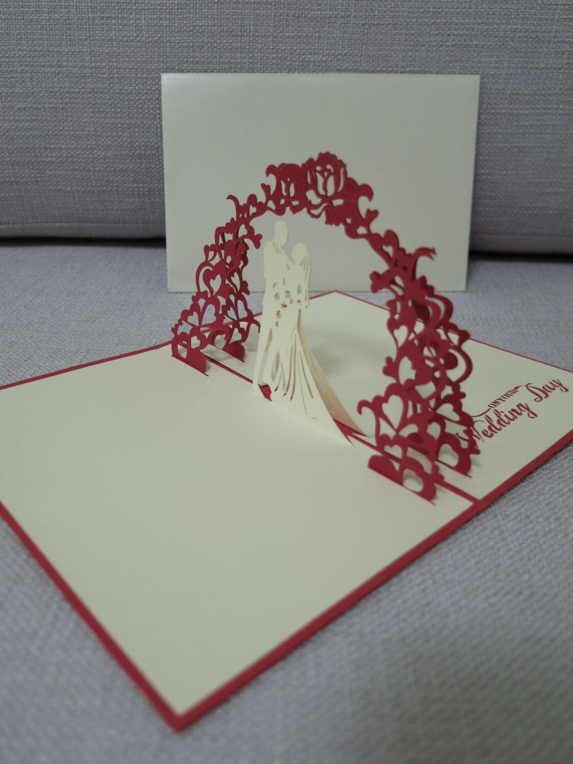 3D Pop Up Wedding Card - Wedding Card - Pop Up Card For Wedding Pop Up Card Template Free