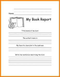 3Rd Grade Book Report Template | Meetpaulryan regarding Book Report Template 3Rd Grade