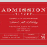 4 Free Admission Ticket Templates – Word – Excel – Pdf Formats In Blank Admission Ticket Template