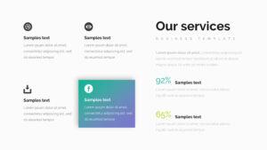 4 In 1 Flatpack Bundle Google Slide Template #bundle for Product Line Card Template Word