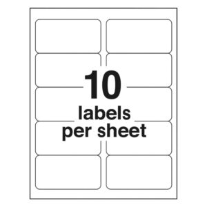 4 Labels Per Sheet Template As Well Avery Page With Shipping Pertaining To Word Label Template 21 Per Sheet