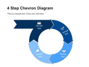 4 Step Circular Chevron Diagram Template | Chevron pertaining to Powerpoint Chevron Template