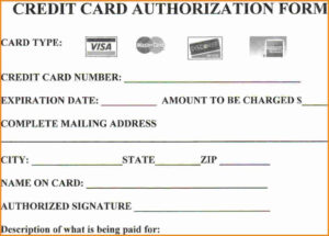 40 Credit Card Authorization Form Templates Authorization Credit within Credit Card Payment Slip Template