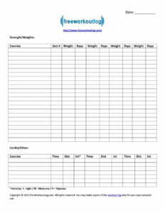 40+ Effective Workout Log & Calendar Templates ᐅ Template Lab within Blank Workout Schedule Template