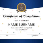 40 Fantastic Certificate Of Completion Templates [Word In Class Completion Certificate Template