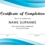 40 Fantastic Certificate Of Completion Templates [Word Intended For Free Certificate Of Completion Template Word