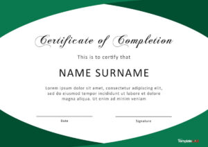 40 Fantastic Certificate Of Completion Templates [Word Pertaining To Certificate Of Completion Free Template Word