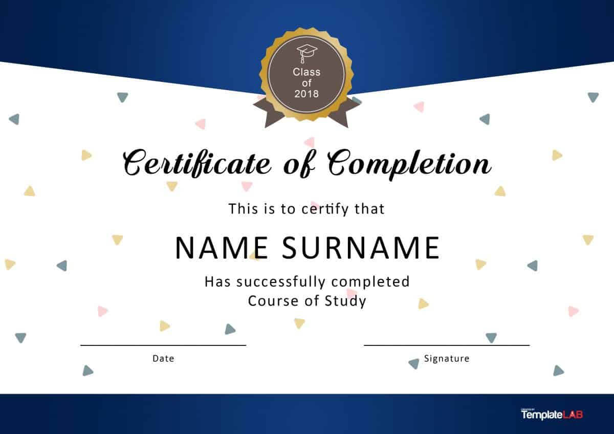 40 Fantastic Certificate Of Completion Templates [Word Regarding Blank Certificate Templates Free Download
