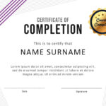 40 Fantastic Certificate Of Completion Templates [Word Regarding Class Completion Certificate Template