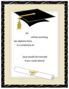 40+ Free Graduation Invitation Templates ᐅ Template Lab intended for Graduation Invitation Templates Microsoft Word