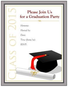 40+ Free Graduation Invitation Templates ᐅ Template Lab regarding Graduation Party Invitation Templates Free Word