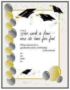 40+ Free Graduation Invitation Templates ᐅ Template Lab throughout Graduation Party Invitation Templates Free Word